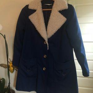 Vintage 70's Cobalt Blue Peacoat